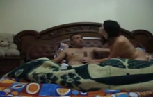 Arab GF pounded like a whore on the bed