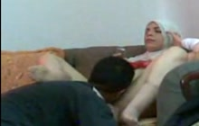 Arab MILF with her man