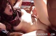 Pretty Arab Nadia Ali fucked hard by back cock