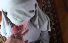 Girl in Hijab sucking my cock