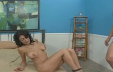 Sexy Arab MILF fucked in front of her husband