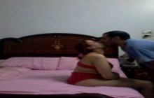 Arab couple fucking in the bedroom