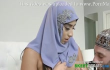 Busty Arab teen likes to take it doggystyle